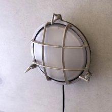 詳細写真3: ヴィンテージウォールランプ サブマリンラウンド ブラッシュニッケル LED対応