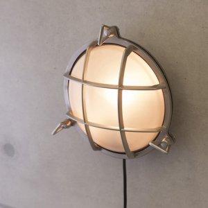 画像1: ヴィンテージウォールランプ サブマリンラウンド ブラッシュニッケル LED対応
