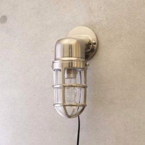画像2: ヴィンテージウォールランプ サブマリンブラケット ブラッシュニッケル LED対応