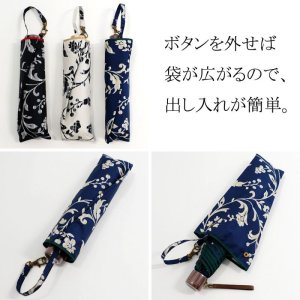 画像3: デザイン傘 折畳み傘 つた柄 50cm ブラック /2018春夏