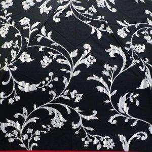 画像2: デザイン傘 折畳み傘 つた柄 50cm ブラック /2018春夏