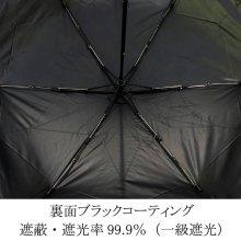 詳細写真2: デザイン傘 折畳み傘 つた柄 50cm ブラック /2018春夏