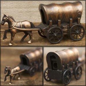 画像1: アンティークシャープナー 幌馬車 鉛筆削り