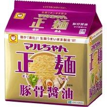 詳細写真1: マルちゃん 正麺 豚骨醤油味 5食×6パック× 1箱