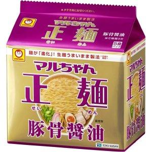 画像1: マルちゃん 正麺 豚骨醤油味 5食×6パック× 1箱