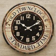 詳細写真1: ブリキ製 壁掛時計 スタンダードタイム2 / エンボス加工