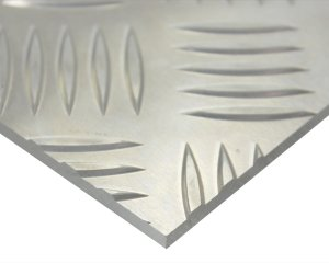画像1: アルミ縞板(52S) 1000mm×1000mm 厚さ3mm「新鋭産業」
