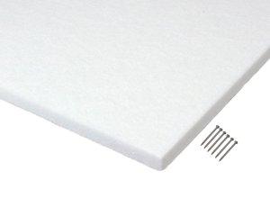 画像1: 吸音カラー硬質フェルトボード400mm角 白「光」12枚