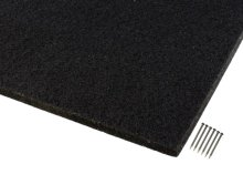 詳細写真1: 吸音カラー硬質フェルトボード400 ブラック「光」12枚