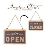 アメリカン・クラシック ウォールプレート【OPEN&CLOSED】2