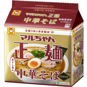 画像1: マルちゃん 正麺 中華そば 和風醤油味 5食×6パック× 1箱